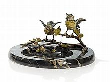 Bergmann Vienna Bronze, Marble Bowl with Birds, around 1920