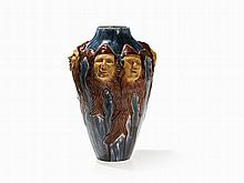 Art Nouveau, Vase with Dwarfs, presumably Belgium, c. 1900