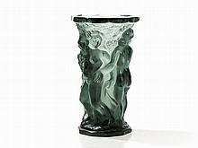 Vase in the Style of Lalique with Dance Motif, France, c. 1930