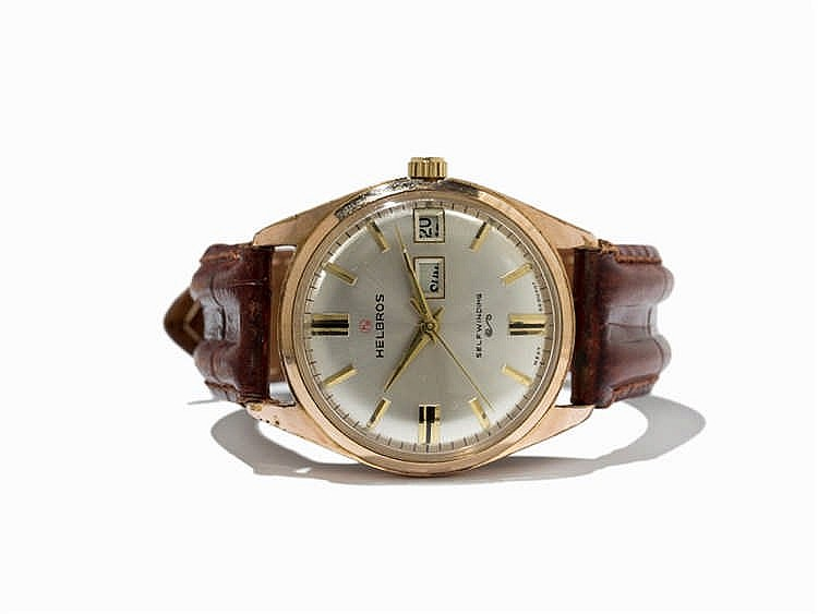 Helbros Self-Winding Day Date Wristwatch, Germany, 1950s