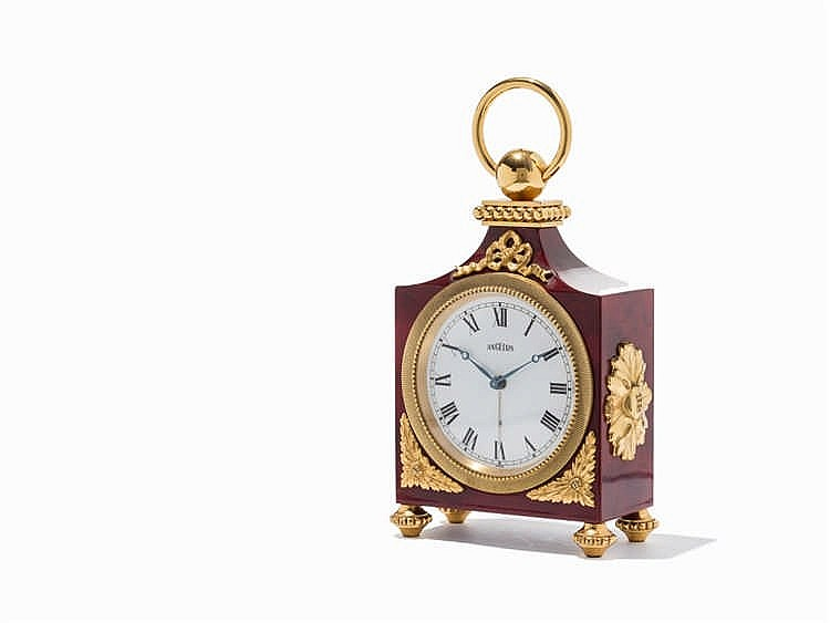 Angelus Table Clock with Alarm, Switzerland, c. 1950