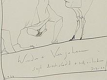 Horst Janssen, Drawing 'Werden + Vergehen Brockstedt', 1966