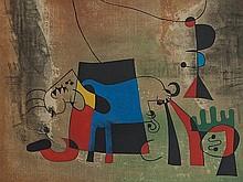 Joan Miró (1893-1983), 'Le Chien Bleu', Spain, 1959