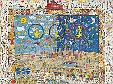 James Rizzi, Signed Poster 'Centennial Olympic Games', 1996