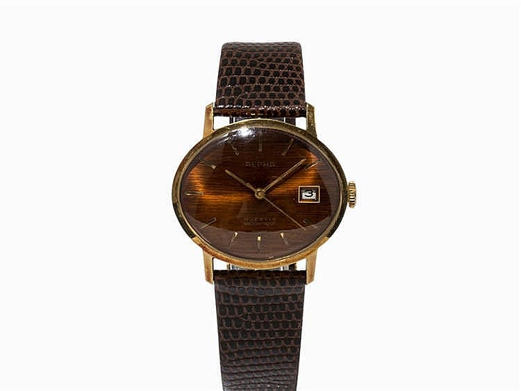 Alpha, Gold-Plated Vintage Wristwatch, Germany, pres. 1970s