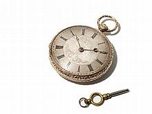 Gold Plated Men´s Pocket Watch, Austria, Around 1850