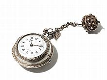 John Ellicott Silver Pocket Watch, England, Around 1750