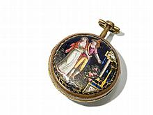 Johan Adam Meller Copper Pocket Watch, Austria, Around 1720