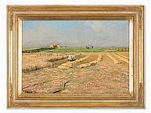Hugo Mühlig, Bei der Getreideernte, Germany, c. 1890