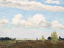 Carl Jörres, Oil Painting, In the Luneburg Heath, 1943
