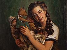 Anton Filkuka (1888-1957), Daughter of the Artist, c.1930/35