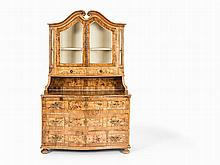 A Dresser with Mounted Display Case, Germany, 2nd H.18th C