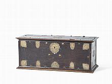 Historicism Chest with Brass Fittings, 2nd Half 19th Century