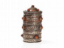 Ritual Vessel with Coral Gemstones, 19th C / 1st Half 20th C