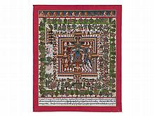 "Detailed Medicinal Thangka ""Bhaisajyaguru"