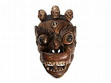 Wooden Cham Dance Mask of a
