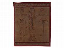 """Medicinal Thangka """"Energy Gates with Chakras"""