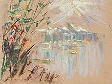 Karl Hagemeister (1848-1933), 'Am Schwielowsee', c. 1910