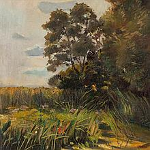 Margarete Haeberlin (1879-1954), Painting 'Templin See', 1898