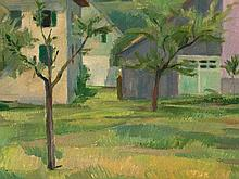 Robert Amrein (1896-1945), Painting 'Pink House', around 1930