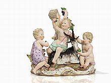 Meissen, Porcelaine Group 'Der Herbst', Late 19th Century