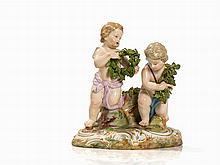 Meissen, A Cupid Groupe, Porcelain, 19th C.
