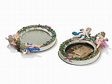 Meissen,Pair of Wall Mirrors with Cupids, 2nd H. 19th C.