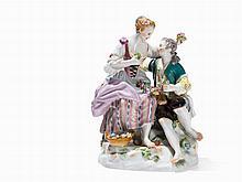 Meissen, Porcelain Group of Figures 'Schäfergruppe', 1986