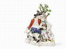 Meissen, Shepherd Group, Porcelain, c. 1900