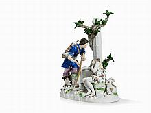 Meissen, Large Group 'Sheperds at Fountain', 2nd Half 19th C.