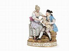 Meissen, 'Shephert Couple with Lamb and Dog', late 19th C.