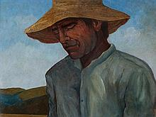 José Vela Zanetti (1913-1999), Oil Painting, 'The Sower'