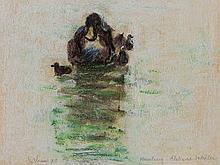 Orhan Peker (1927-1978), Drawing 'Ducks', 1973