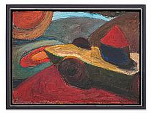 Chuck Connelly, Oil Painting 'Abstract Composition', USA, 1985