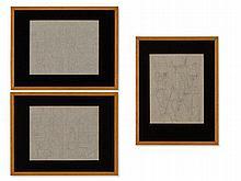 Eduard Bargheer (1901-1979), Three Abstract Drawings, c. 1960