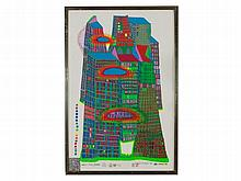 Friedensreich Hundertwasser, Serigraph 'Bleeding Town', 1969/71