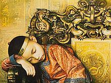 Jiang Guofang (b. 1951), Lithograph 'Dream', China, 1990s
