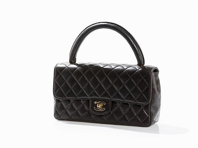 Chanel, Quilted Kelly Bag, Medium, Black, 1986/89