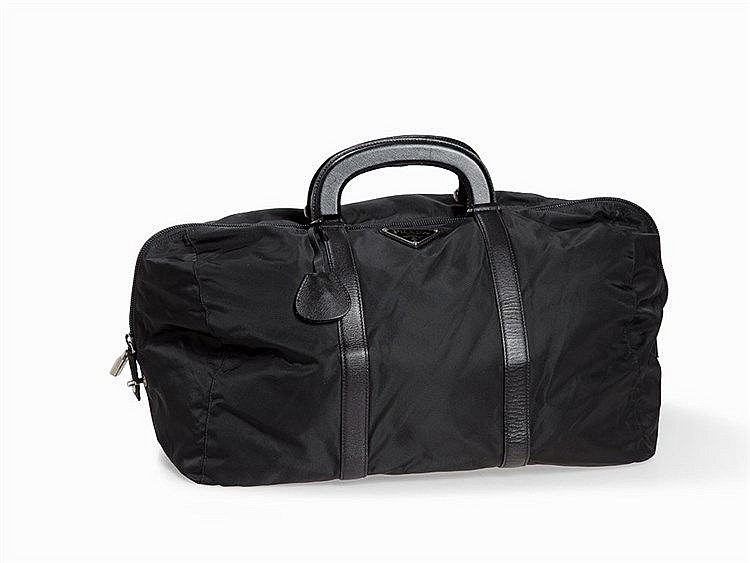 Prada, Black Nylon Duffle Bag, Milan