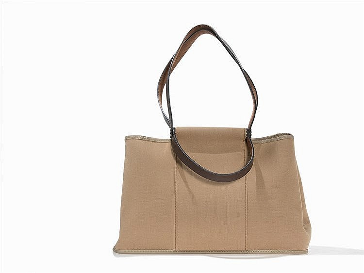 Hermès Canvas Cabag Elan Tote Bag Taupe, 2009