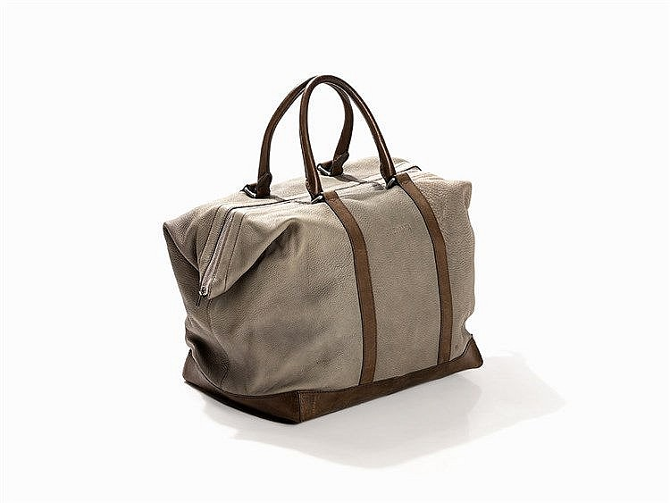 Premiata, Sage Green Leather Weekender, Italy, c. 2000