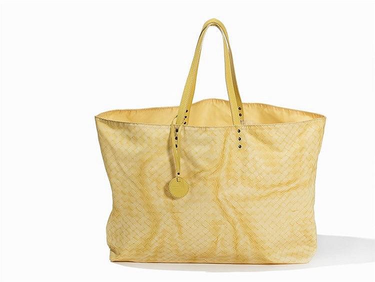 Bottega Veneta, Yellow Intrecciolusion Tote Bag, Italy, 2000s