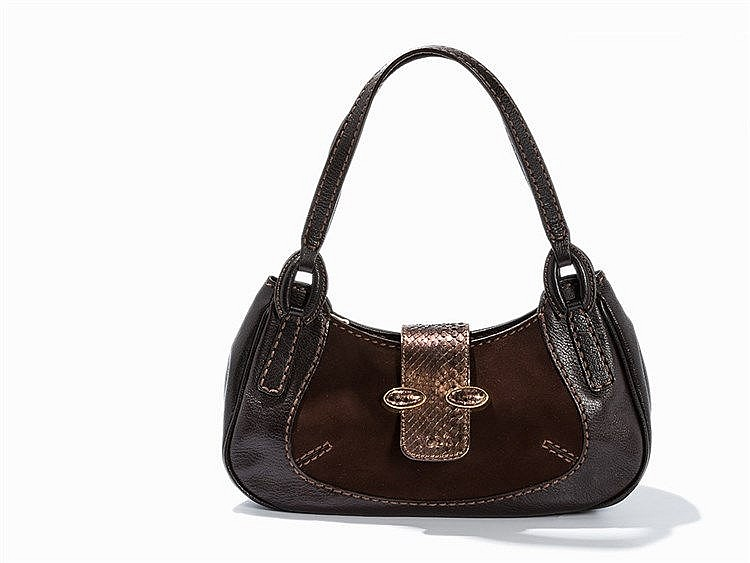 Tod`s, Shoulder Bag, Brown Leather, Italy, c. 2000