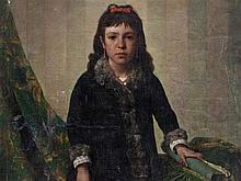 Léon Légat (1829-?), Portrait of a Young Girl, 19th C