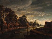 Aert van der Neer, Follower of, 'River Landscape', 18th C
