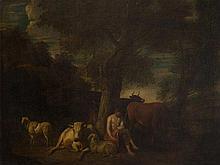 Dirck van Bergen (1645-1690), attr., Resting Shepherd, 17th C