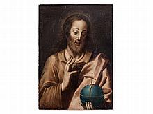 Hispano Flemish School, 'Salvator Mundi', 17th Century