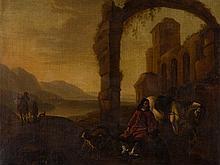 Jan Baptist Weenix (1621-1660), Resting Horseman, around 1650