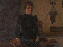 Heinrich Ewers (1817-1885), Painting, Portrait of a Boy, 1870