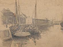 Johan Barthold Jongkind (1819-1891), 'Shipping in Harbour'